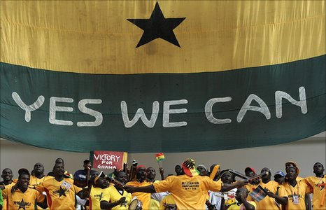 Fans of Ghana's Black Stars at Angola 2010