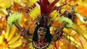 Dancer at the Rio Carnival (file photo)