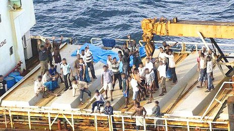 File photo of Tamil refugees on a boat