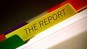 The Report logo