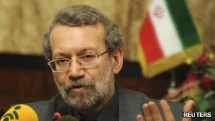 Ali Larijani at news conference in Iranian embassy in Ankara - 12 January