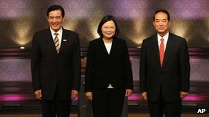 Taiwan goes to the polls Saturday to elect one of the three presidential candidates