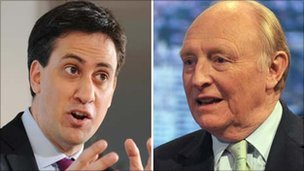 Ed Miliband and Lord Kinnock