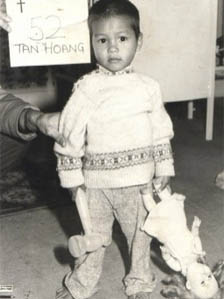 A young Lê Thanh at his orphanage in Vietnam