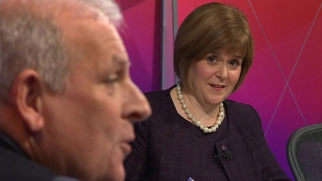 Kelvin MacKenzie and Nicola Sturgeon