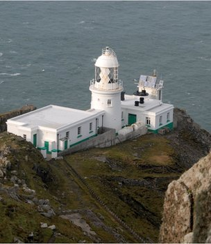 Lighthouse on Lundy Island (Image: BBC)