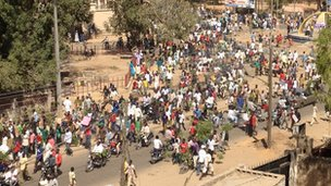 Protesters marching in Kano. Photo: Jihad Jaafar