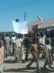 Fuel protest in Kano.
