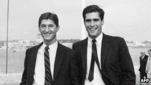 Mitt Romney (right) in Bassin d'Archachon, southwestern France, in the 1960s