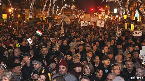 Anti-government protest in Budapest