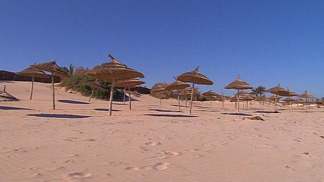 Deserted Tunisian beach