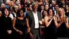Actor Morgan Freeman in the audience during the 2012 People's Choice Awards at Nokia Theatre, Los Angeles, California