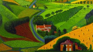 The Road across the Wolds, 1997 by David Hockney