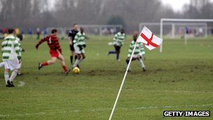 A Sunday league football match