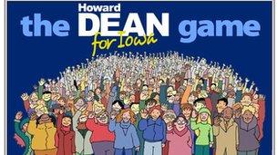 Screenshot of the Howard Dean for Iowa game