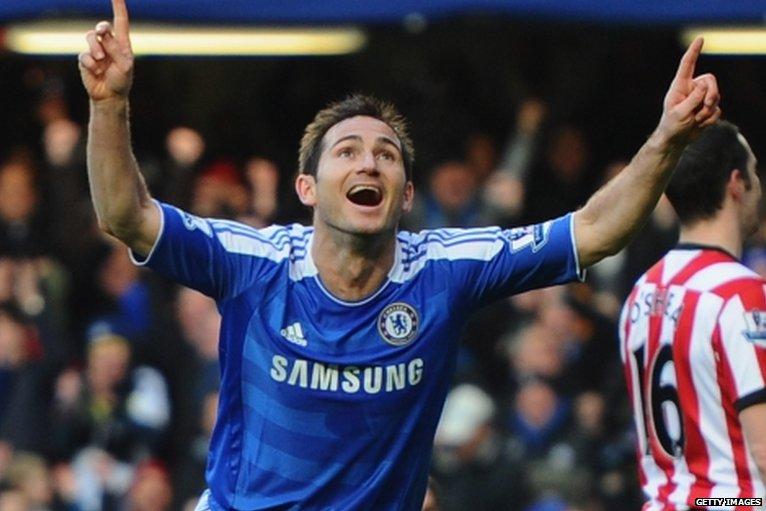 Frank Lampard hits Chelsea's winner