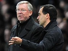 Roberto Martinez with Sir Alex Ferguson