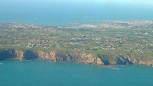 Guernsey aerial view from the south