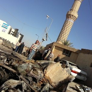 Car bombs were detonated near one of the city's mosques