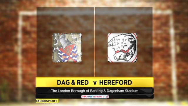 Dag & Red 0-1 Hereford