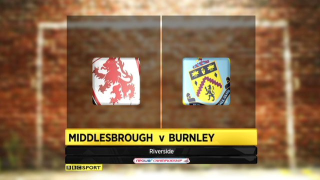 Highlights - Middlesbrough 0-2 Burnley