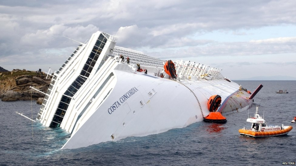 A photograph taken on 15 January 2012 of the Costa Concordia