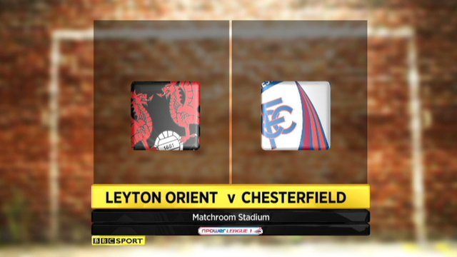 Highlights - Leyton Orient 1-1 Chesterfield