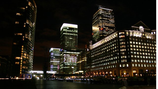 Canary Wharf, one of the main finance centres in London