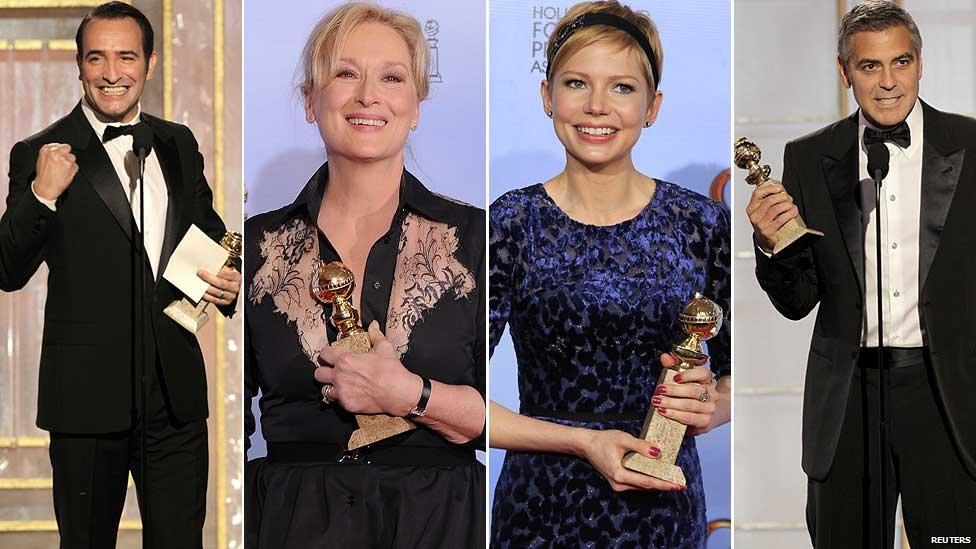 Jean Dujardin, Meryl Streep, Michelle Williams and George Clooney