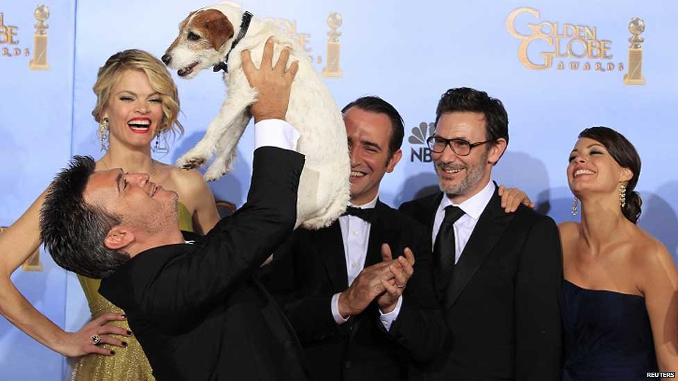 The makers of The Artist celebrate with its canine star Uggie