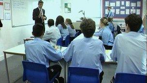 Children and teacher in classroom (generic picture)