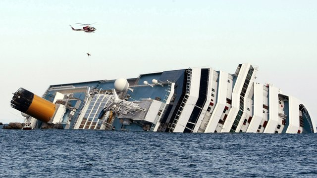 Capsized cruise liner, the Costa Concordia