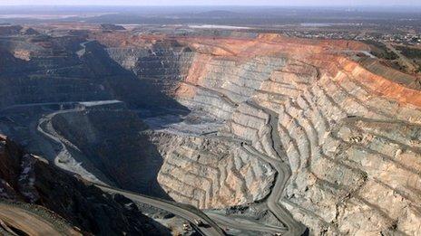 Open cast gold mine in Western Australia