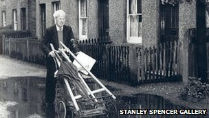 Stanley Spencer and his pram