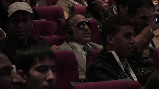 Cinema for the blind in Marrakesh
