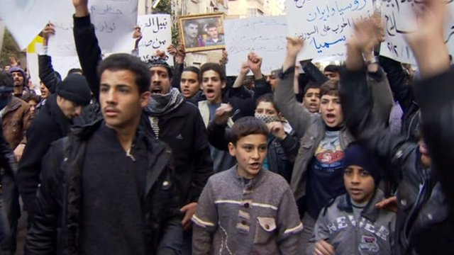Crowd in Syria