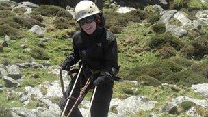 Sarah Hodgetts rock climbing