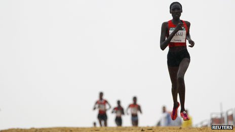Linet Masai wins the 2012 Italica cross-country race in Santiponce, near Seville