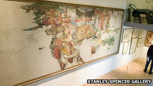 Inside the Stanley Spencer Gallery