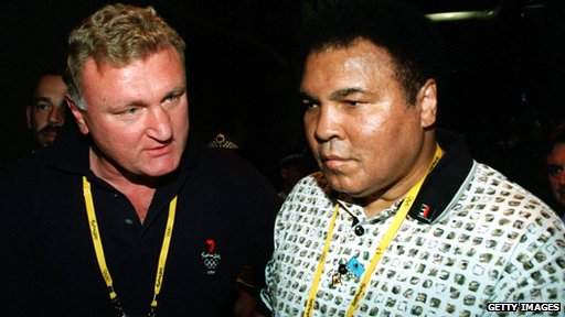 Joe Bugner and Muhammed Ali