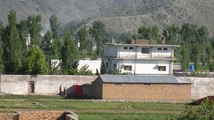 Compound where Osama Bin Laden was found and killed on outskirts of Abbottabad, northwest Pakistan