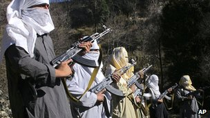 Taliban fighters train in South Waziristan tribal area