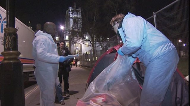Parliament Square tents dismantled