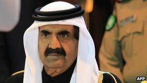 The Emir of Qatar, Sheikh Hamad Bin Khalifa Al Thani (December 2011)