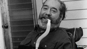 Ed Roberts in 1994, photo courtesy Disability Rights Education & Defense Fund