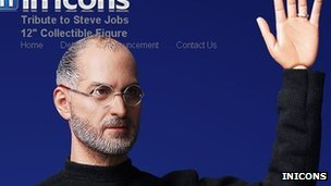 Screenshot of In Icons website showing Steve Jobs doll 17 January 2012