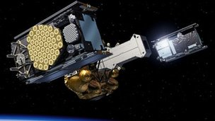 Artist's impression of Galileo deployment