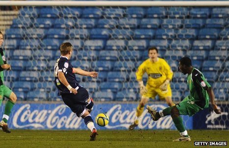 Harry Kane scores Millwall's second