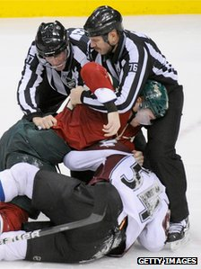 Ice hockey fight
