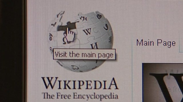 Wikipedia logo on website